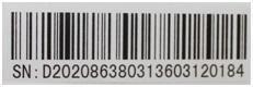 vonalkódos címke minta